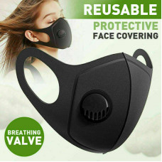 Face mask breathable and washable masks Filter Valve Reusable