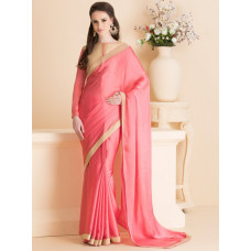 BRIGHT PINK INDIAN PARTY WEAR SAREE