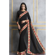 BLACK ETHNIC BOLLYWOOD PARTY STYLE SAREE