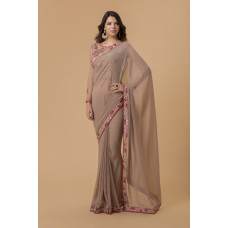 MOUSE AND PINK INDIAN PARTY & EVENING WEAR SAREE