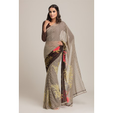 BROWN INDIAN CASUAL SAREE
