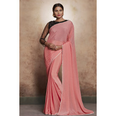 PINK READY MADE PARTY WEAR SAREE