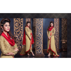 2302 GOLD AND RED HARMAN BY MAISHA PARTY WEAR SHALWAR KAMEEZ SUIT