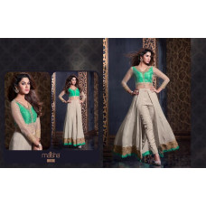 2304 SILVER AND GREEN HARMAN BY MAISHA PARTY WEAR SHALWAR KAMEEZ SUIT