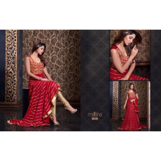 2306 RED HARMAN BY MAISHA PARTY WEAR LEHENGA