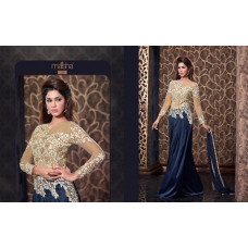 2307 BLUE HARMAN BY MAISHA PARTY WEAR DRESS