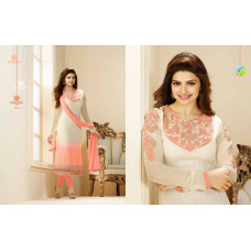 2762 CREAM AND PINK COLOUR KASEESH PRACHI-9 SUIT PARTY WEAR SHALWAR KAMEEZ