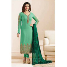 5551 NILE GREEN KASEESH JANNAT EMBROIDERED GEORGETTE PRACHI DESAI STRAIGHT SALWAR SUIT