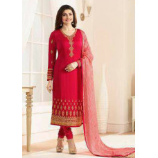 5554 RED KASEESH JANNAT EMBROIDERED GEORGETTE PRACHI DESAI STRAIGHT SALWAR SUIT