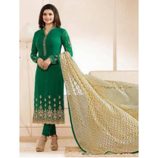 5556 GREEN KASEESH JANNAT EMBROIDERED GEORGETTE PRACHI DESAI STRAIGHT SALWAR SUIT