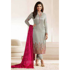 5555 HARBOR MIST GREY KASEESH JANNAT EMBROIDERED GEORGETTE PRACHI DESAI STRAIGHT SALWAR SUIT