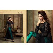 18001 BLACK AND GREEN MASKEEN ADDICTION BY MAISHA PARTY WEAR SUIT
