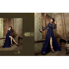 18003 BLUE AND GOLD MASKEEN ADDICTION BY MAISHA PARTY WEAR SUIT