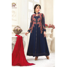 1034 SAILOR BLUE RASHI PRINTS NOORANI HEAVY DESIGNER PARTY WEAR GEORGETTE SUIT