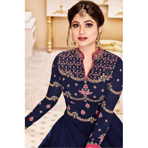 743e987903 BLUE INDIAN PARTY AND WEDDING ANARKALI DRESS