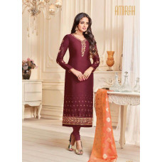 MAROON INDIAN PARTY WEAR CHURIDAR SUIT