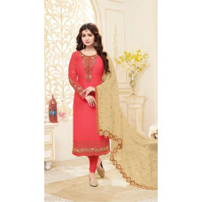 RED ETHNIC SILK GEORGETTE WEDDING SALWAR SUIT