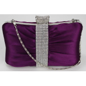 Crystal Clutch Bags/Nude Satin Evening Bags