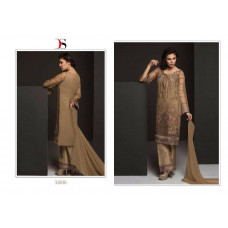 51006 BROWN BAROQUE PAKISTANI DESIGNER STYLE READY MADE