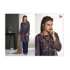 51005 BLUE BAROQUE PAKISTANI DESIGNER STYLE READY MADE