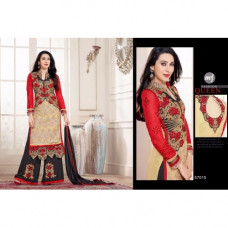 57015 Red Elezita Party wear Shalwar Suit