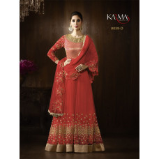 RED KARMA HEAVY EMBROIDERED WEDDING WEAR GOWN