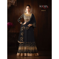 BLACK KARMA HEAVY GOLD EMBROIDERED WEDDING WEAR GOWN