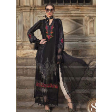 Black Maria B Unstitched Embroidered Party Wear Suit