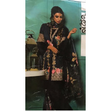 BLACK LINEN READY MADE PAKISTANI STYLE SALWAR KAMEEZ