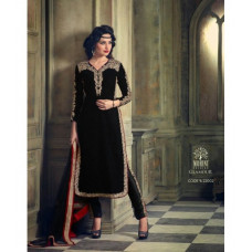 M23002 BLACK MOHINI GLAMOUR WINTER VELVET SUIT