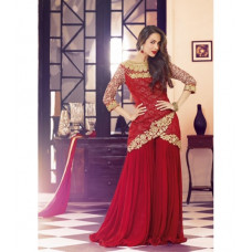 3705- RED SHOWSTOPPER 3 MALAIKA ARORA KHAN WEDDING WEAR DRESS