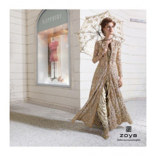 12003 BEIGE ZOYA STYLISH WEDDING WEAR DRESS