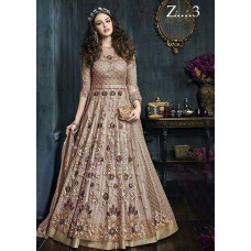 22001-A NUDE HEAVY EMBROIDERED INDIAN WEDDING WEAR LEHENGA