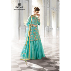 12001-B ORGINIAL TURQUOISE ZOYA SHADES WEDDING LENGHA 4 PIECE SUIT