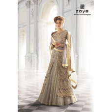 12003-A GREY ZOYA SHADES WEDDING WEAR DRESS